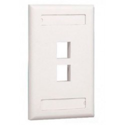 Face Plate 2 puertos Panduit Netkey Categoria 6 Blanco Mate ( NK2FIWY )