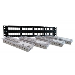 Patch Panel AMP 48 puertos Categoria 6A ( 1933320-2 )