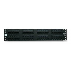 Patch Panel AMP 48 puertos Categoria 6 ( 1375015-2 )