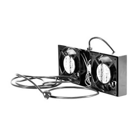 kit de 2 ventiladores para gabinetes con cable de poder