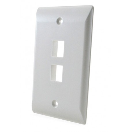 Faceplate Simple AMP 2 Puertos Blanco / Marfil ( 1-2111022-x )
