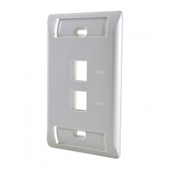 Faceplate Iconeable AMP 2 Puertos Blanco / Marfil ( 1-2111009-x )