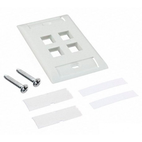 Faceplate Iconeable AMP 4 Puertos Blanco / Marfil ( 2111011-x )