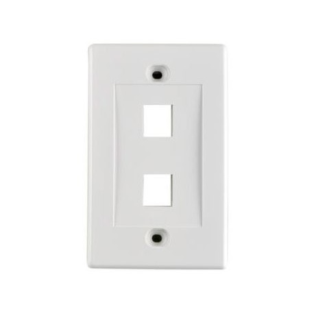 Faceplate 2 puertos Dixon Color Blanco