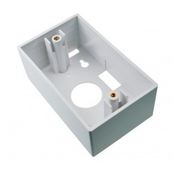 Caja Adosable placa de montaje 2×4 (alta) – 70x114x47mm – Blanca