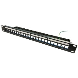 Patch Panel Modular Vacio AMP Commscope 24 puertos Categoria 6A ( 2153437-1)