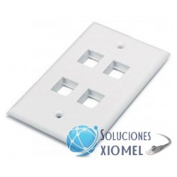 Faceplate 4 puertos Dixon Color Blanco