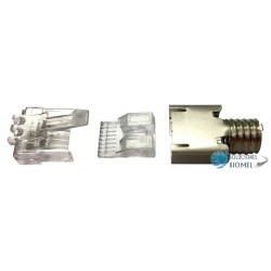 Conector Plug RJ45 Dixon categoria 6 Paquete 100 unidades