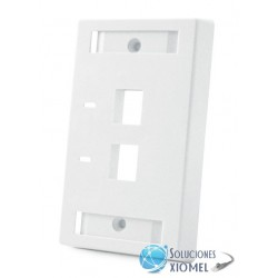 Faceplate AMP CommScope 2 Puertos Blanco Iconeable ( 557505-3 )