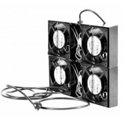 kit de 4 ventiladores para gabinetes con cable de poder
