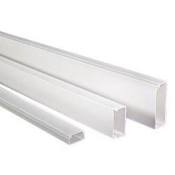 Canaleta pared 24x14 blanco SATRA capacidad 4 cables 2 metros ( paquete de 25 unidades )