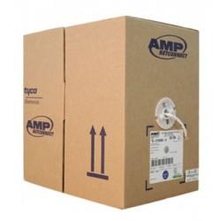 Rollo Cable UTP AMP Sólido 4P Categoria 6 24AWG 250Mh 305 metros Gris
