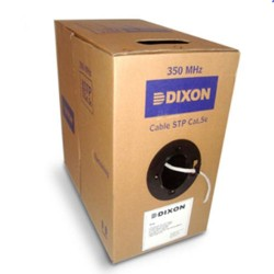 Rollo Cable UTP Dixon Categoria 5e 305 metros 24 AWG Puro Cobre