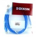 Patch Cord UTP Dixon Categoria 6 de 2m – Negro / Azul / Rojo
