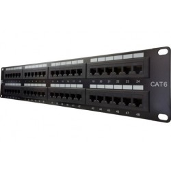 Patch Panel de 48 puertos Dixon RJ-45 Categoria 6