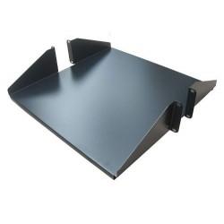 """Bandeja Metalica Doble 2 RU 19"""" x 50 cm. profundidad para rack de piso"""